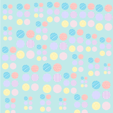 Vector of Circle pattern pastel design wallpaper