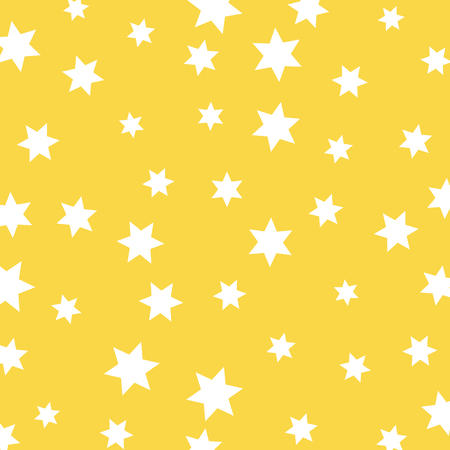 Vector of kids pattern Star on yellow background