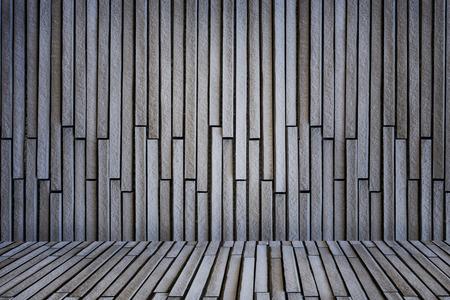 Gray brick wall with floor 写真素材