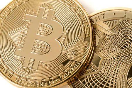 Closed up at Bitcoin Cryptocurrency future technology