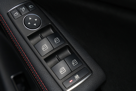 Windows control and adjustment in sport car