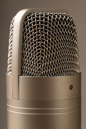 closed up Studio microphone