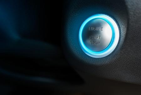 Closeup at Car engine start button 写真素材