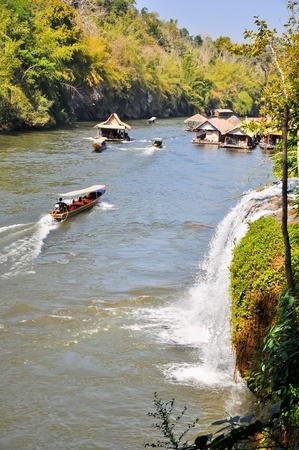 kwai noi river at  kanchanaburi thailand photo