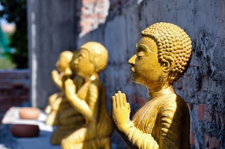 nonthaburi: monk image at wad bot donphrom ,nonthaburi,thailand Stock Photo