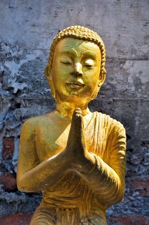 japanesse: monk image at wad bot donphrom ,nonthaburi,thailand Stock Photo