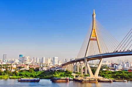 bhumibol:  bhumibol bridge , bangkok, thailand