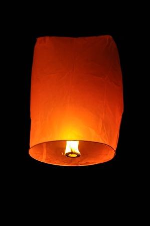yeepeng: a hot-air bolloon in a dark night
