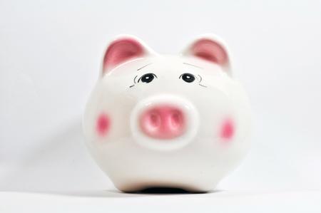 a piggy saving box on white background Stock Photo - 13184468