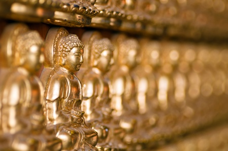 the line forming of buddha image Stock Photo - 13321066