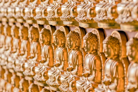 the line forming of buddha image Stock Photo - 13321067