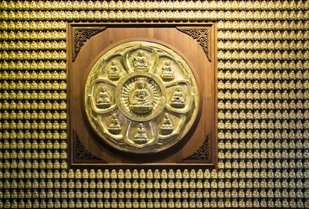 japanesse: a buddha image circle Stock Photo