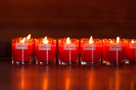 recite: A lucky candle  for praying at temple