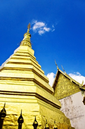 travel to Wat Phra That Cho Hae ,Phrae ,Thailand Stock Photo