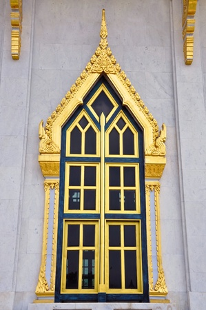 chachoengsao: the window of Sotorn temple,chachoengsao ,thailand   Stock Photo