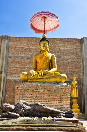 japanesse: buddha image at Wat Bot don phrom ,Nonthaburi,Thailand