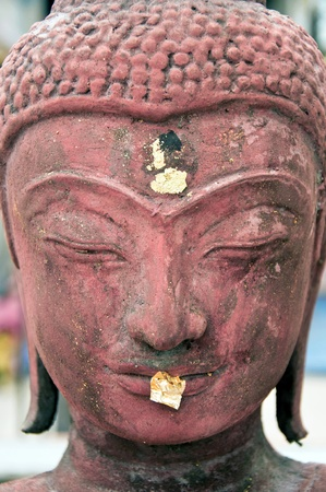 japanesse:  a face of buddha image  Stock Photo