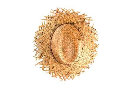 chapeau de paille: vannerie faite de haut plantes vue