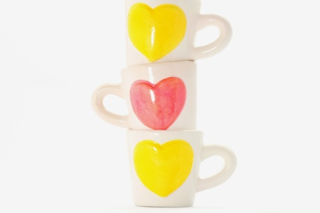 group of cups of heart , cups of lover  Stock Photo - 14165664