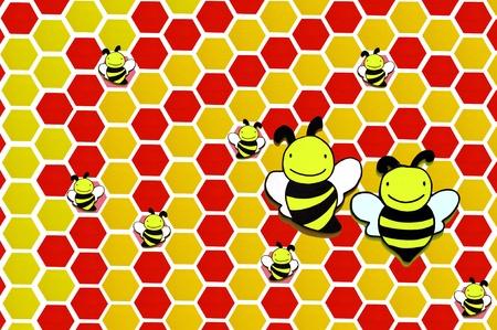 illustration of  wooden bee on background Stock Illustration - 14493522