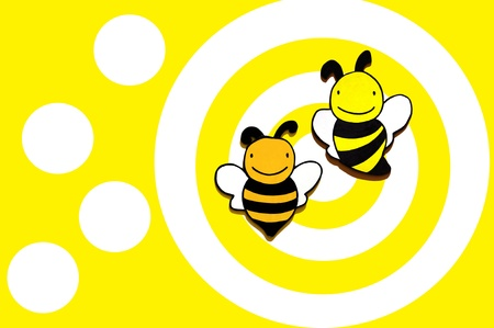 illustration of  wooden bee on background   Stock Illustration - 14493416
