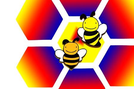illustration of  wooden bee on background Stock Illustration - 14493431