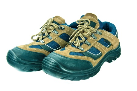 safety shoes: safety  shoes  on the background