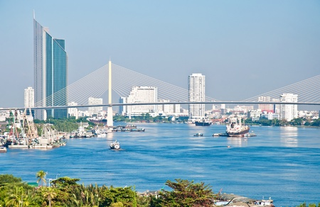 transportation by ship in chao phra ya river, bangkok,thailand Stock Photo - 14602284