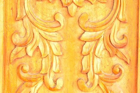 woodcarving on my door,woodcarving background  photo