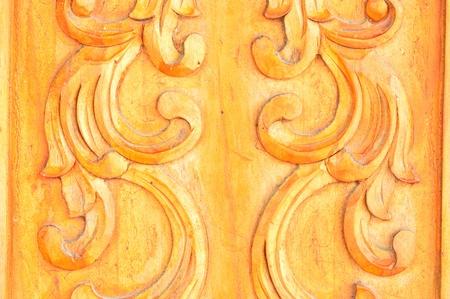 tallado en madera: woodcarving a mi puerta, tallado en madera de fondo Foto de archivo