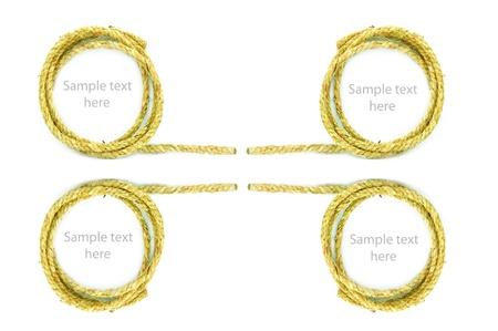rope on  background,concept idea,isolation Stock Photo - 14783481