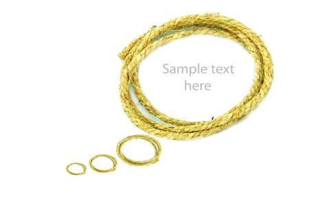 rope on  background,concept idea,isolation Stock Photo - 14783465