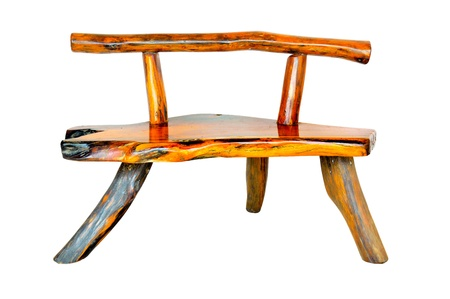 the chair made from rootage  Wooden chair photo
