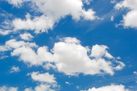 white cloud  with blue sky background in beautiful day  photo