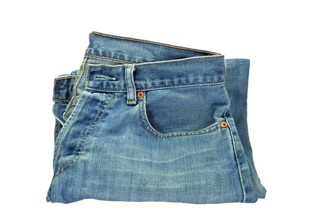 perineum: bolt of jeans on the white background,isolation of jeans