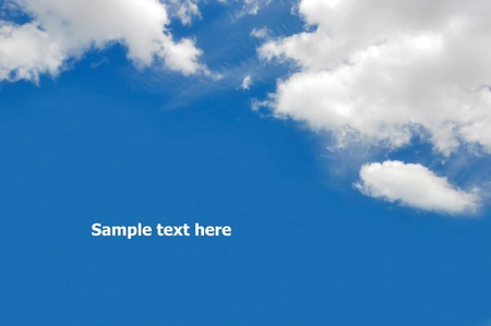 beautiful cloud  on blue sky background photo
