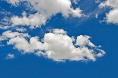 beautiful cloud  on blue sky background photo