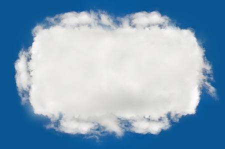 cloud on blue background,idea box Stock Photo - 15115660