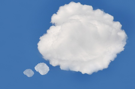 cloud on blue background,idea box Stock Photo - 15115614