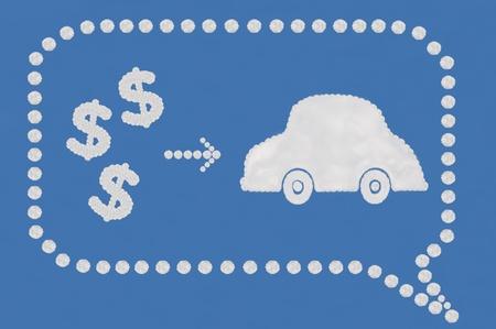 smacker: cloud on blue background,idea box