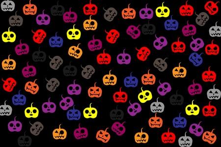 samhain: colorido halloween, jack-o-lantern, dibujos animados, ilustrador, gr�fico