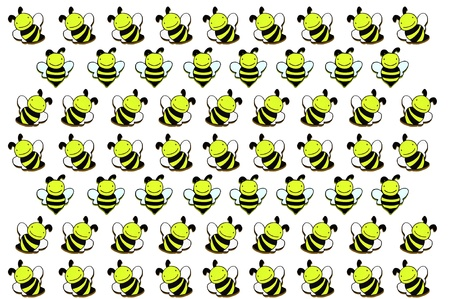 a pretty wooden bee on background Stock Photo - 15596010