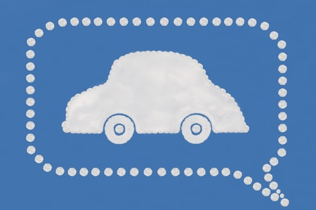 cloud on blue background,idea box Stock Photo - 15595998