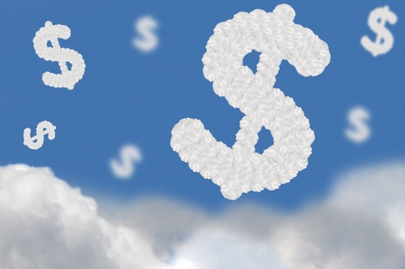 cloud on blue background,idea box  Stock Photo - 15596000