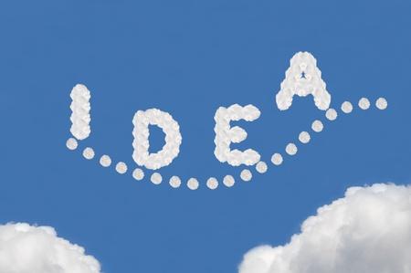 cloud on blue background,idea box Stock Photo - 15595996
