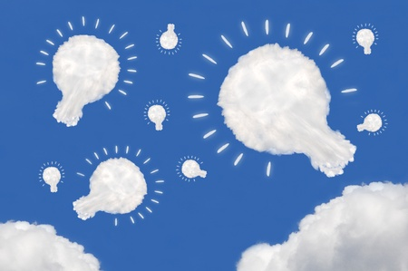 smacker: cloud on blue background Stock Photo