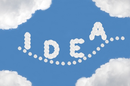 cloud on blue background photo