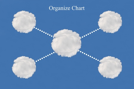 organize chart made from cloud Stock Photo - 15595732