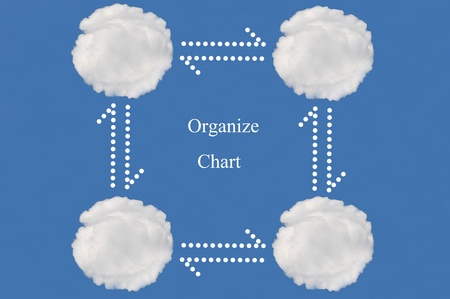 organize chart made from cloud Stock Photo - 15595743