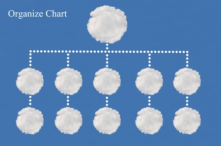 organize chart made from cloud Stock Photo - 15595752